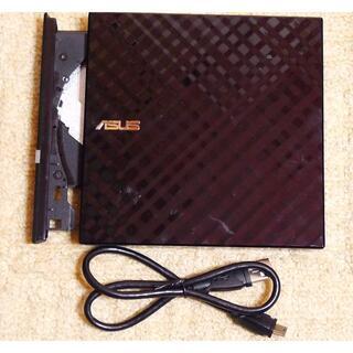 ASUS - オシャレなUSB薄型ポータブルスーパーマルチDVDドライブ