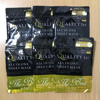 クオリティファースト(QUALITY FIRST)のクオリティファースト オールインワンシートマスク ザ・ベストEX 3枚入×6袋(パック/フェイスマスク)