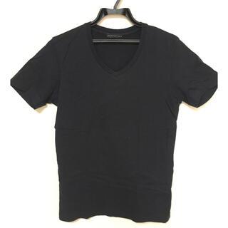 エストネーション(ESTNATION)の【格安】ESTNATION VネックTシャツ【激安】日本製無地ネイビーSサイズ(Tシャツ/カットソー(半袖/袖なし))