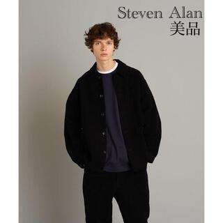 スティーブンアラン(steven alan)の美品 Steven Alan BRSH COVERALL カバーオール ブラック(カバーオール)