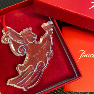 バカラ(Baccarat)の【未使用保管品】バカラ クリスマス クリスタル オーナメント 2000年 ノエル(置物)
