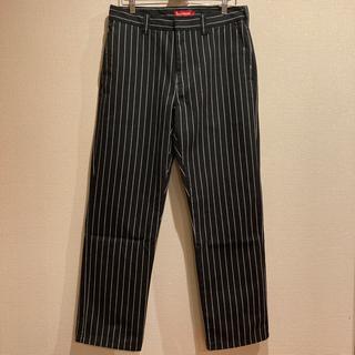Supreme - supreme work pants black stripe 32