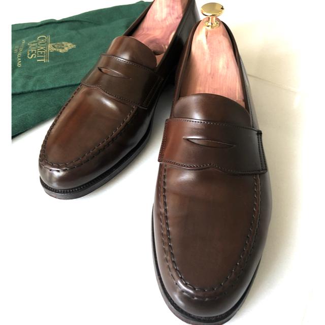Crockett&Jones(クロケットアンドジョーンズ)の【極美品】クロケット&ジョーンズ コードバンローファー UK7.5E メンズの靴/シューズ(ドレス/ビジネス)の商品写真