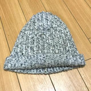 ザラ(ZARA)のZARA ニットキャップ   ニット帽 ザラ   グレー(ニット帽/ビーニー)