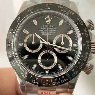 i - 一番 黒 デイトナ ロレックス 自動巻き 腕時計