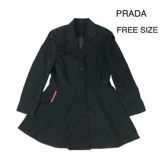 PRADA - 【イタリア製】PRADA プラダ コート 中綿入り 春コーデ 黒 ブラック