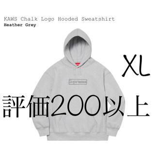 シュプリーム(Supreme)のXL KAWS Chalk Logo Hooded Sweatshirt(パーカー)