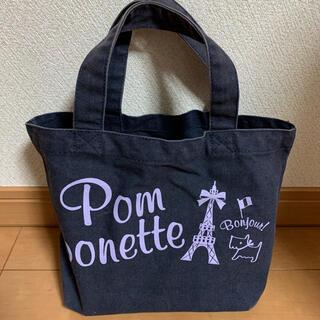 ポンポネット(pom ponette)の値下げ!Pom ponetteトートバッグ☆紺色ネイビー(トートバッグ)