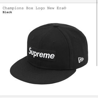 シュプリーム(Supreme)のsupreme  Champions Box Logo New Era ブラック(キャップ)