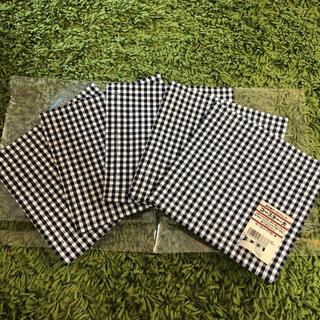 ムジルシリョウヒン(MUJI (無印良品))の無印 綿平織ギンガムチェック コースター大 5枚セット 新品(テーブル用品)