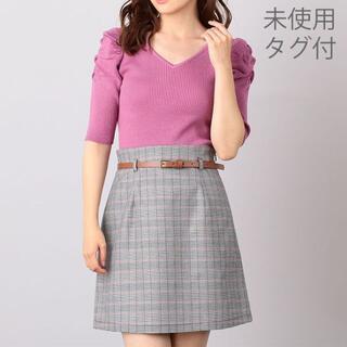 ミーア(MIIA)の【未使用♡タグ付】ミーア MIIA グレンチェック柄 台形スカート Sサイズ(ミニスカート)