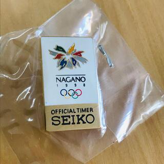 セイコー(SEIKO)のSEIKO 長野オリンピック ピンバッジ(バッジ/ピンバッジ)