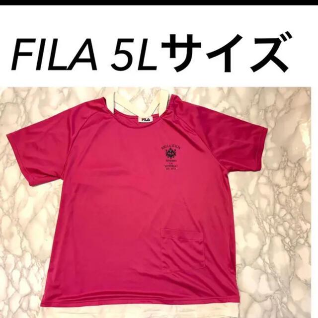 FILA(フィラ)のFILA トップス 5Lサイズ 切り替えデザイン レディースのトップス(Tシャツ(半袖/袖なし))の商品写真