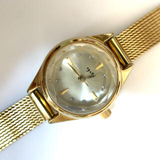 agete レディース腕時計 ゴールド