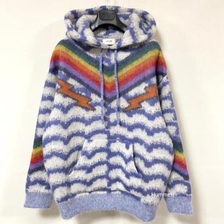 セリーヌ(celine)の国内正規 21SS 新品同様 セリーヌ  ブラッシュド モヘヤ フード セーター(ニット/セーター)