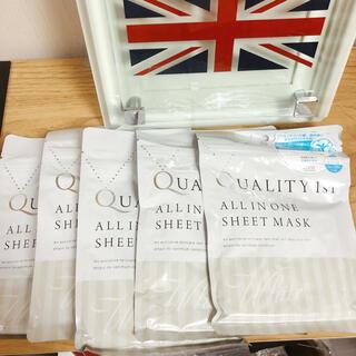 クオリティファースト(QUALITY FIRST)のクオリティーファースト シートマスク フェイスパック 5袋(パック/フェイスマスク)