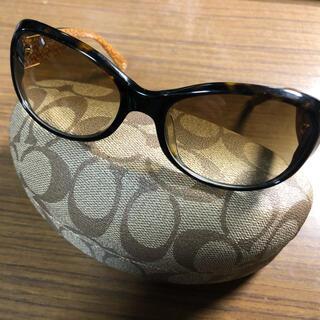 COACH - 美品 COACH レディースサングラス TORTOISEメガネケース付