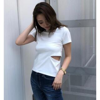 アンビー(ENVYM)のENVYM カッテイングアシメTシャツ(Tシャツ(半袖/袖なし))