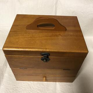化粧BOX  三面鏡 木製(メイクボックス)