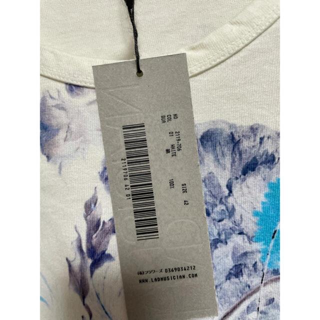 LAD MUSICIAN(ラッドミュージシャン)のラッドミュージシャン  花柄 ビッグTシャツ 19ss 半袖ホワイト タグあり メンズのトップス(Tシャツ/カットソー(半袖/袖なし))の商品写真