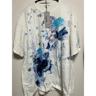 ラッドミュージシャン(LAD MUSICIAN)のラッドミュージシャン  花柄 ビッグTシャツ 19ss 半袖ホワイト タグあり(Tシャツ/カットソー(半袖/袖なし))