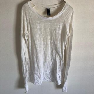 オルタナティブ(ALTERNATIVE)のAlternative オルタナティブ カットソー ホワイト S 長袖(Tシャツ/カットソー(七分/長袖))