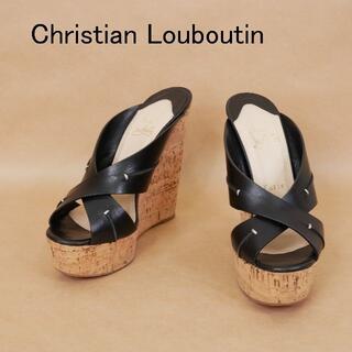 Christian Louboutin - Christian Louboutin クリスチャンルブタン 37 黒 サンダル
