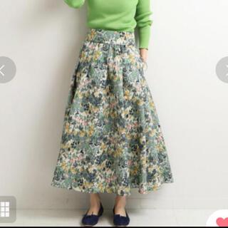 IENA - 【IENA】かすれフラワーギャザースカート