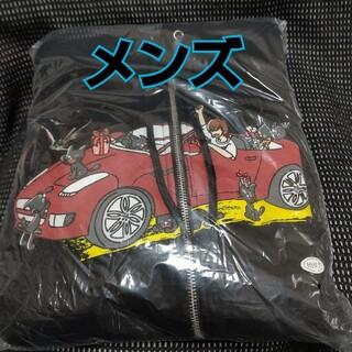 【LEVEL5】キヨ猫パーカー ジップアップ ブラック メンズ【レベル5】(パーカー)