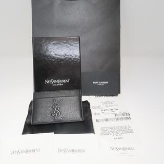 サンローラン(Saint Laurent)の【新品】サンローラン SAINT LAURENT カードケース 黒 ブラック(名刺入れ/定期入れ)