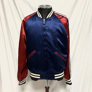 Gucci - GUCCI 18SS グッチ アームロゴ サテンブルゾン ボンバージャケット