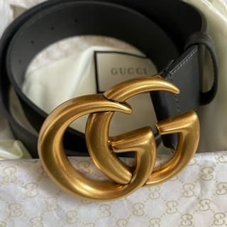 Gucci -  dude9 GUCCI レザーバックルベルト ハイクオ