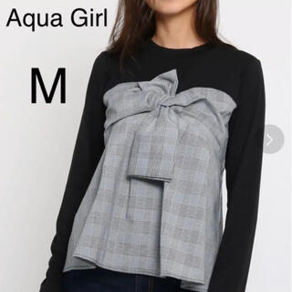 エージーバイアクアガール(AG by aquagirl)の新品未使用 タグ付き Aqua girl ビスチェドッキングプルオーバー M(カットソー(長袖/七分))