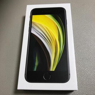 アップル(Apple)のiPhone SE  64 GB SIMフリー ブラック   新品同様(スマートフォン本体)