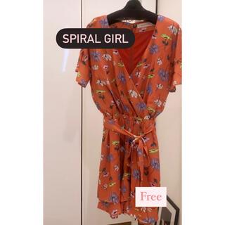 スパイラルガール(SPIRAL GIRL)の新品 ワンピース SPIRAL GIRL(ひざ丈ワンピース)