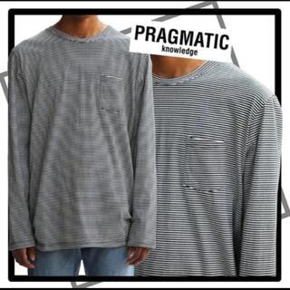 ピースマイナスワン(PEACEMINUSONE)のpragmatic ロンT ジヨン着用 G-dragon着用(Tシャツ/カットソー(七分/長袖))