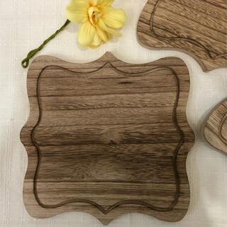 桐 ウッドトレー アンティーク仕上げ 木製トレー 新品 (食器)