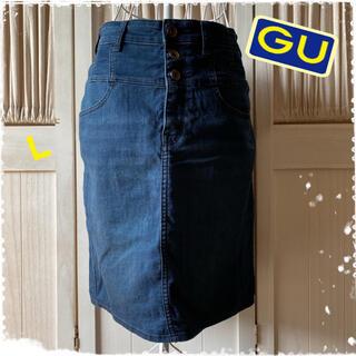 ジーユー(GU)のジーユー デニムスカート タイトスカート 膝丈スカート(ひざ丈スカート)