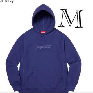 シュプリーム(Supreme)のSupreme KAWS Logo Hooded Sweatshirt ネイビー(パーカー)