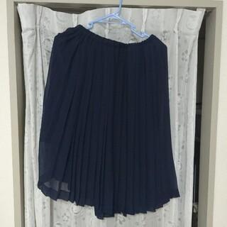 マカフィー(MACPHEE)の紺色のシースルースカート(ひざ丈スカート)