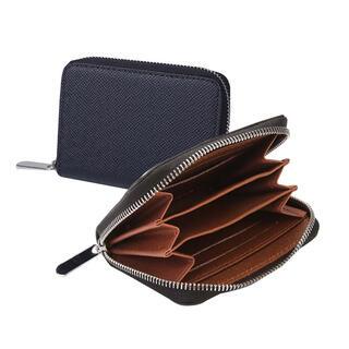 コインケース メンズ 小銭入れ カードケース 多収納 インナーブラウン ブラック(コインケース/小銭入れ)