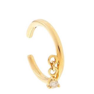 ココシュニック(COCOSHNIK)の新品 ココシュニック COCOSHNIK  K10×ダイヤ(3つ爪)イヤーカフ(イヤーカフ)