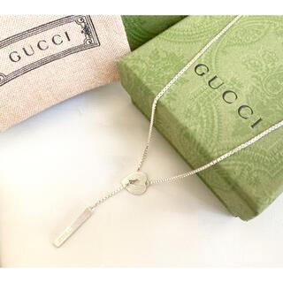 Gucci - 正規品 美品 GUCCI/グッチ ラリアット ハート/ラブリー ネックレス