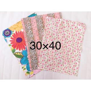 ランチョンマット6枚セット 30×40 花柄 ピンク 入園入学(外出用品)