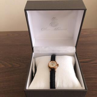イエナ(IENA)のHIROB  腕時計 黒ベルト レディース(腕時計)