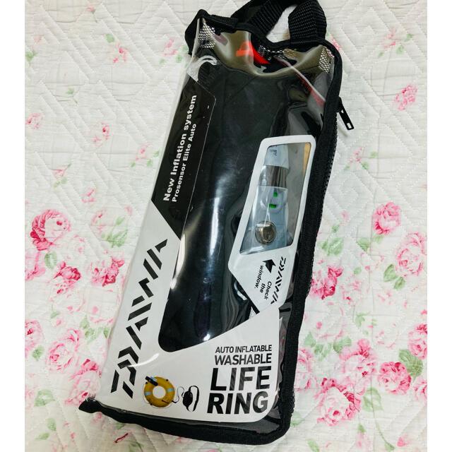 DAIWA(ダイワ)のダイワウォッシャブルライフリング(ポーチタイプ手動・自動膨張式)DF-2307  スポーツ/アウトドアのフィッシング(その他)の商品写真