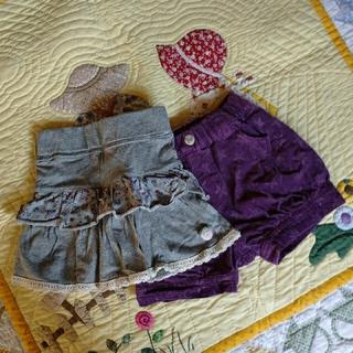 スキップランド(Skip Land)の80cm女児インナーパンツ付スカート&パンツ(パンツ)