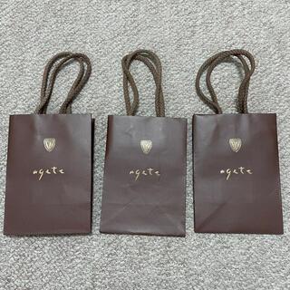 アガット(agete)のアガットショップ袋(ショップ袋)