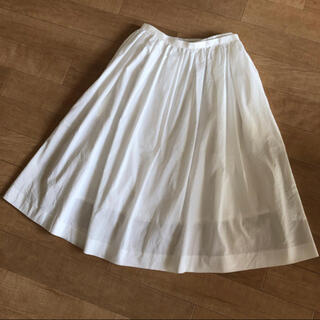 メリージェニー(merry jenny)の白フレアスカート(ひざ丈スカート)