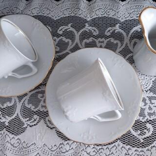 ローゼンタール(Rosenthal)の☆around40様専用☆フッチェンロイターカップ&ソーサー2客シール付き (グラス/カップ)
